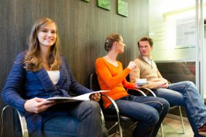 patients practicing social distancing visiting Raleigh dentist